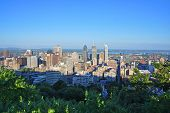 Montreal City Skyline From Parc Mont-royal (mont-royal Park), Quebec, Canada. poster