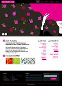 Web Site or Blog Template - Fashion Site
