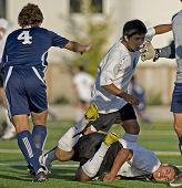 Jongens Varsity Soccer Faceplant