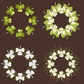 Decorative Circular Shamrock Patterns