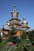 Temple of the Holy Martyr Harlampy.The Virgin of Tikhvin Monastery. Tsivilsk.