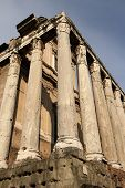 Temple of Antonius and Faustina in Foro Romano at Rome, Italy