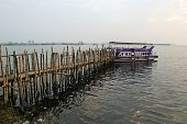 The Old Pier For Boats Made of Bamboo, Cochin, Kerala, South India