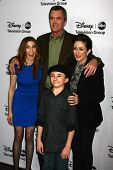 LOS ANGELES - JAN 10:  Eden Sher, Neil Flynn, Patricia Heaton, Atticus Shaffer attends the ABC TCA W