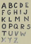 Alfabeto doodled Grunge