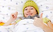 stock photo of feeling better  - Young woman is feeling well from the medical treatment - JPG