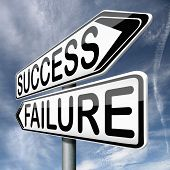 success or failure road to be successful or to fail choose direction make important and crucial deci