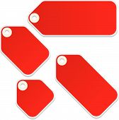 foto of swinger  - Vector blank retail tags isolated on a white background - JPG
