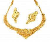Wedding gold necklace of Indian subcontinents