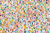 Pinceladas de cor acrílica colorida