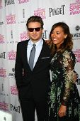 LOS ANGELES - JAN 12:  Jeremy Renner,  Rashida Jones arrives at the 2013 Film Inependent nominees br