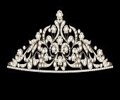 Tiara Crown Women's Wedding Precious Stones