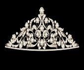 Tiara Crown Women's Wedding Precious Stones