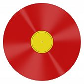 Red vinyl music disc - illustration