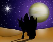 Christmas Card Religious Holy