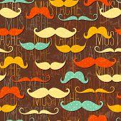 Schnurrbart nahtlose Muster