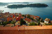 Old town at adriatic sea. Croatia