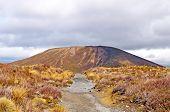 Rußwesen Kegel in einer vulkanischen Ebene