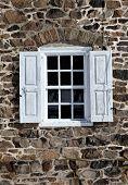 Window in Fieldstone Wall