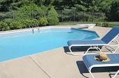 Backyard Swimming Pool Retreat