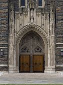 pic of duke  - An image of the chapel doors at Duke University - JPG