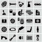 stock photo of motor vehicles  - Car parts icons - JPG
