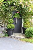Small charming rose garden gate.