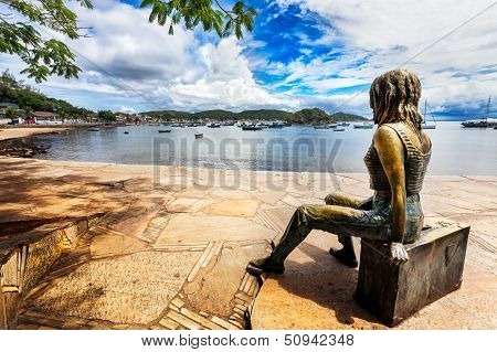 Statue of Brigitte Bardot in