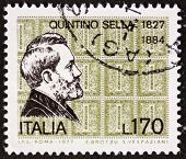 ITALY - CIRCA 1977: a stamp printed in Italy shows  portrait of Quintino Sella (1827 �?�¢?? 1884)