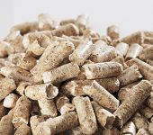 Alternative fuel: Wood pellets made of sawmill waste.