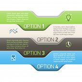 Infographics option design template. Vector.