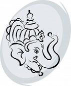 image of ganpati  - Ganpati Greeting Design - JPG