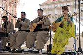 ZAGREB,CROATIA - JULY 17: Members of Music Society Payiz from Kurdistan, Iraq in Kurdish national co