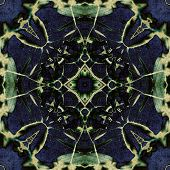 art nouveau ornamental vintage pattern in blue and green colors