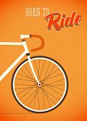 stock photo of pedal  - Template with bicycle theme - JPG