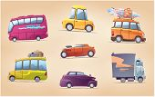 image of heavy bag  - The set of the vector cartoon vehicles - JPG