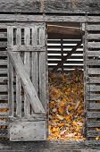 Corn Crib With Open Door