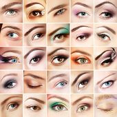 stock photo of eyebrows  - Eyes set - JPG