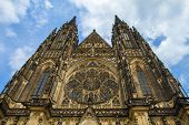St.Vitus, Wenceslas and Adalbert Cathedral in Hradcany, Prague, Czech Republic