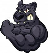 picture of panther  - Black panther mascot - JPG