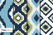 Retro ikat tribal naadloze patronen, fashion design, illustratie voor web ontwerp of home decor