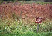 Marsh Do Not Enter Warning Sign