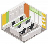 picture of isometric  - Vector isometric office room icon - JPG