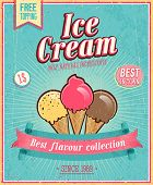 image of vanilla  - Vintage Ice Cream Poster - JPG