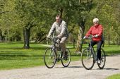 Senior Couple Bike Riding