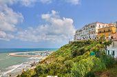 Panoramic view of Rodi Garganico. Puglia. Italy.