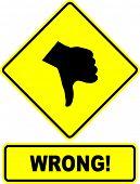 wrong sign