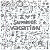 picture of tween  - I Love Summer Vacation Tropical Hand - JPG