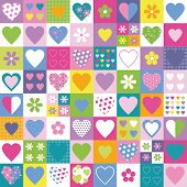 hearts and flowers set pattern
