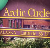 arctic circle board on Alaska